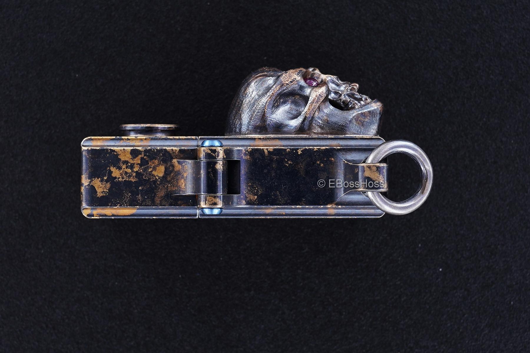 Steel Flame Brass Sledge Lighter - with Bronze XL Hardness Skull
