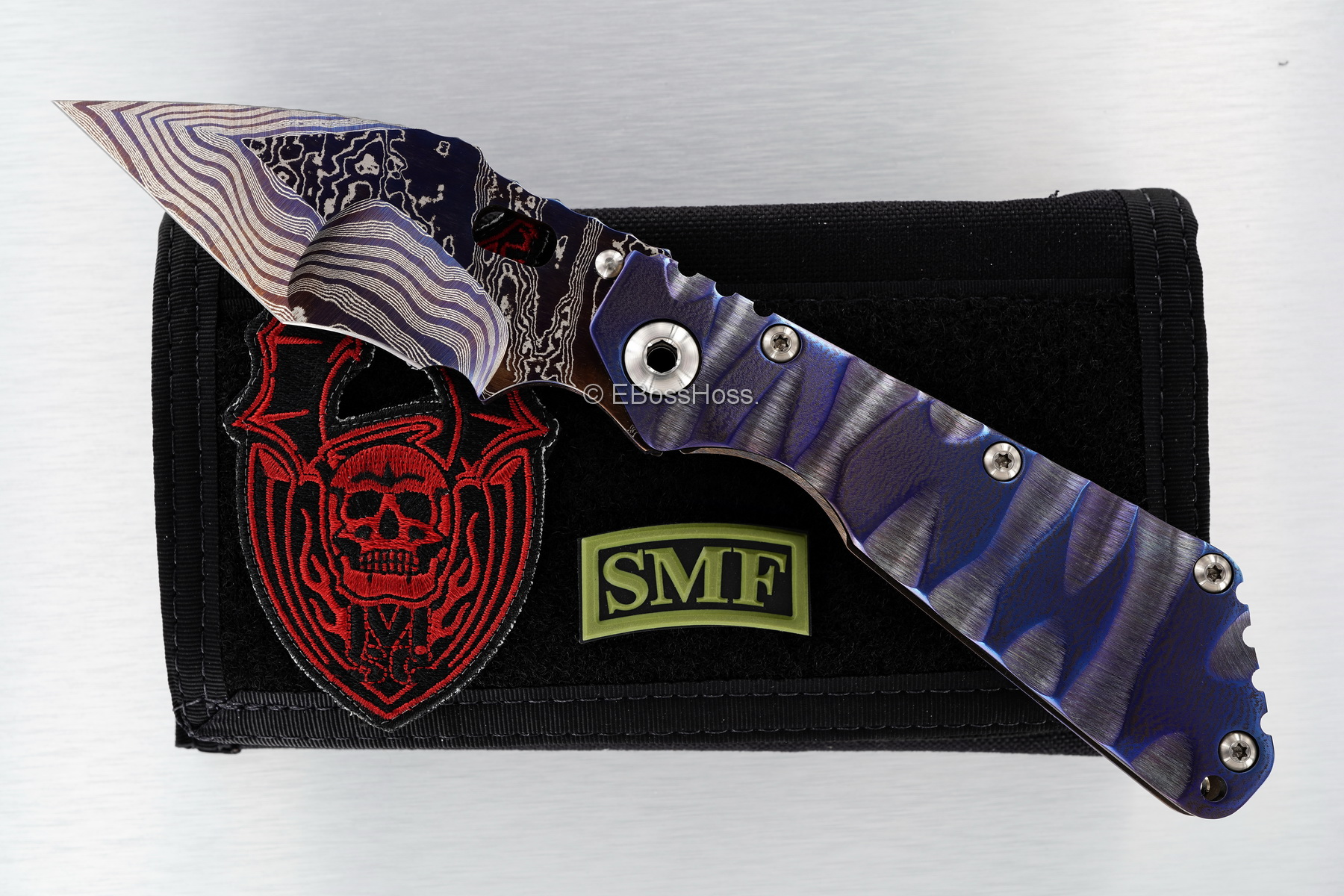 Mick Strider Custom (MSC) Cobalt-Damascus Tanto SMF - Nightmare Dragon-grind