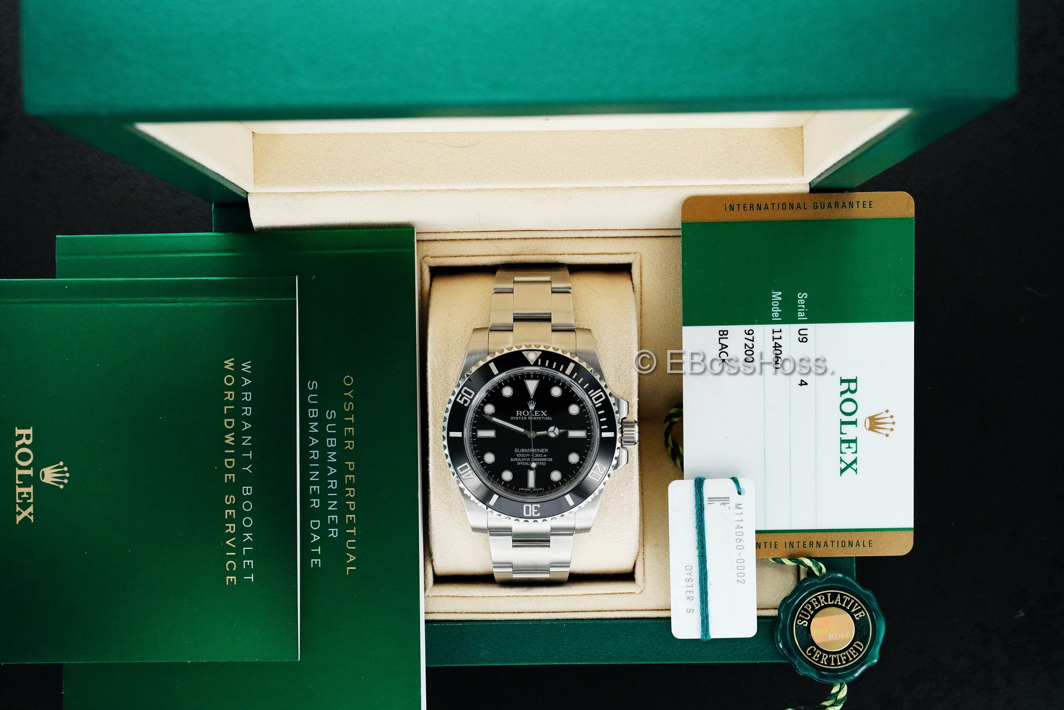 Stainless-Steel No-Date Submariner - 114060LN