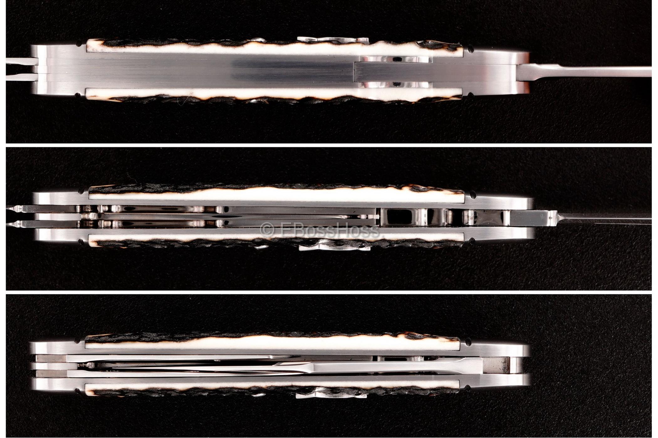 Ryuichi Kawamura Custom Stag Lockback Whittler