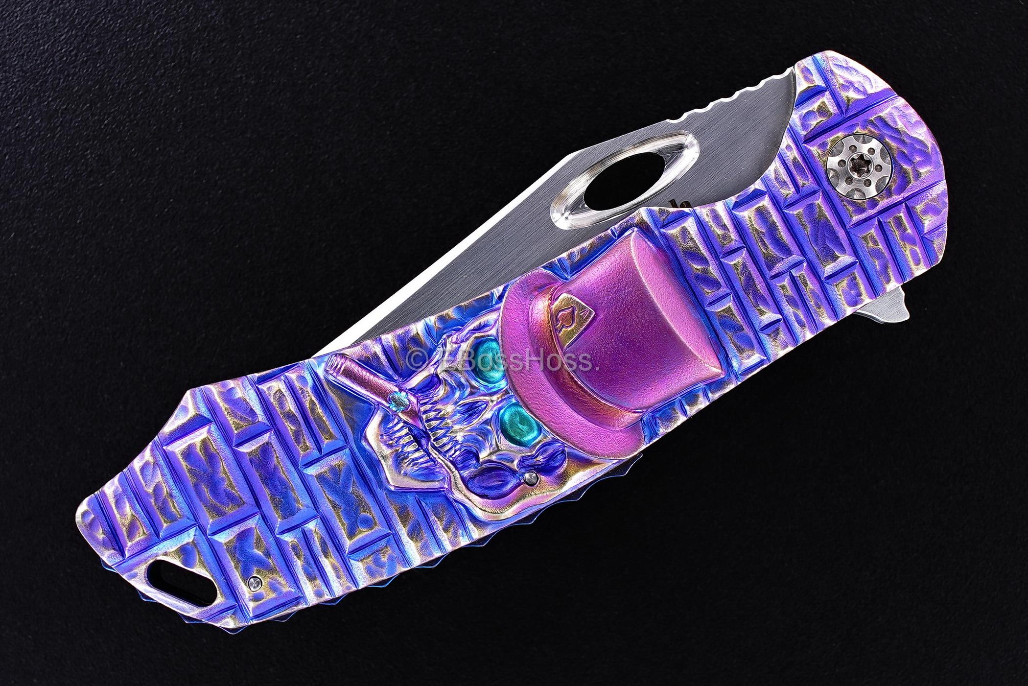 Rick Lala (Korth) Custom Carved Cigar Smoking Skull Phantom XL Flipper