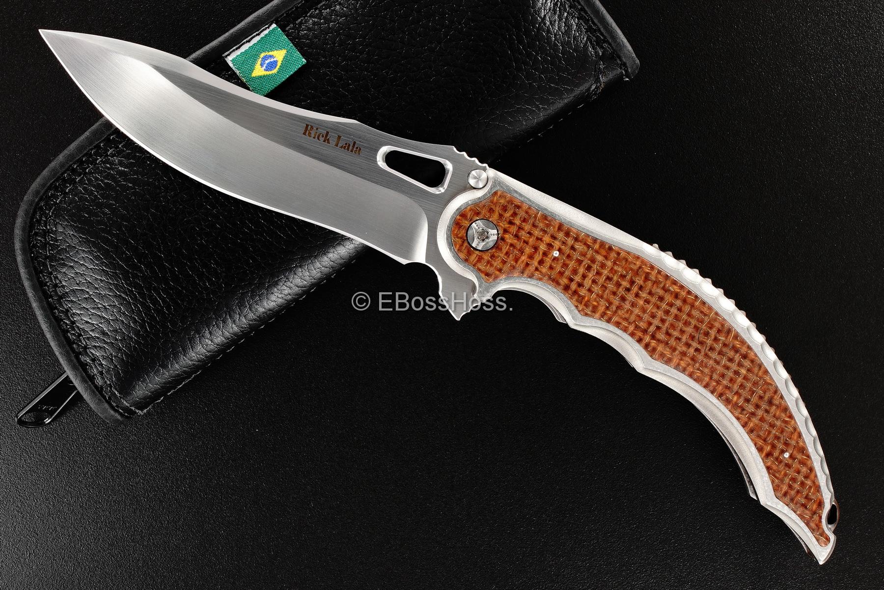 Rick Lala (Korth Cutlery) Custom Reptilian Flipper