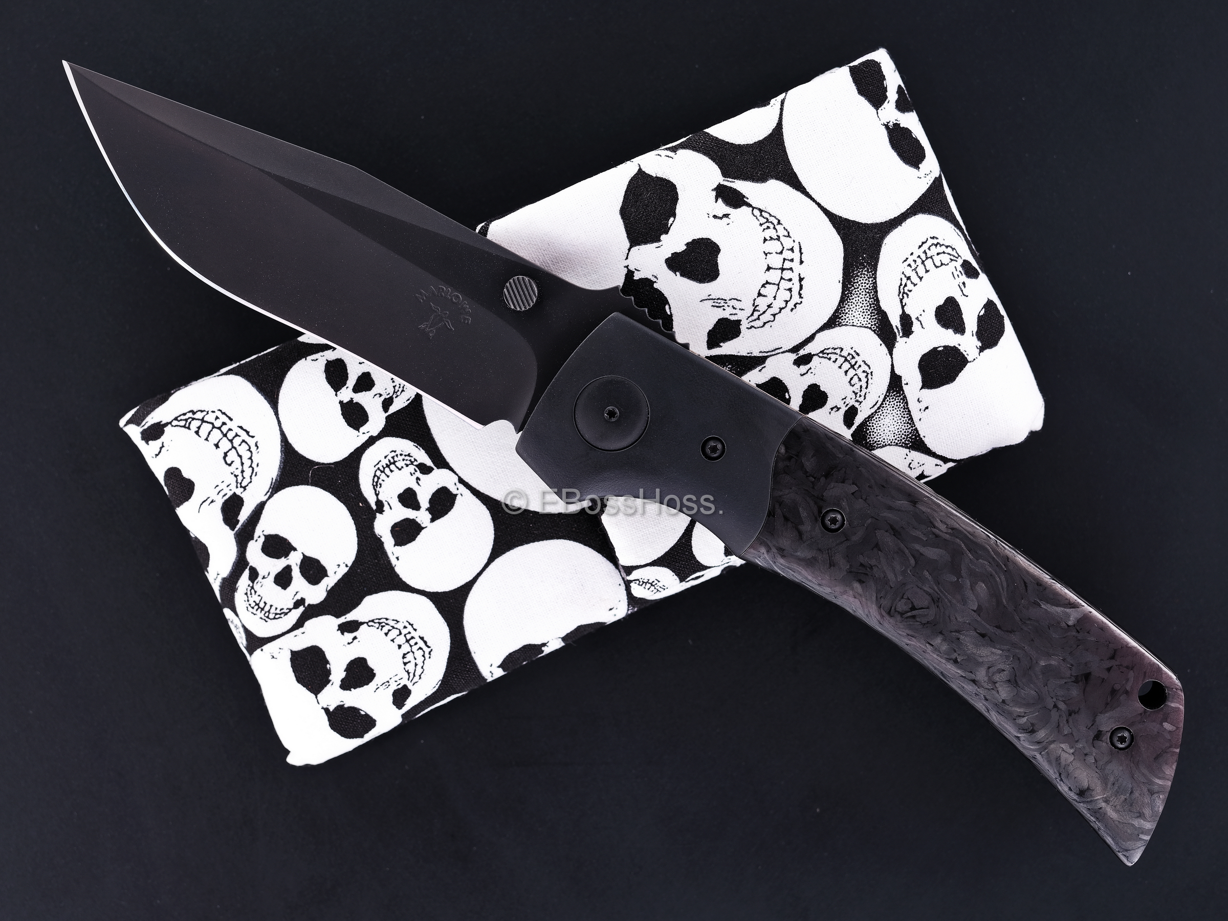 Charles Marlowe Custom DLCed-Black Bolstered A2 Folder