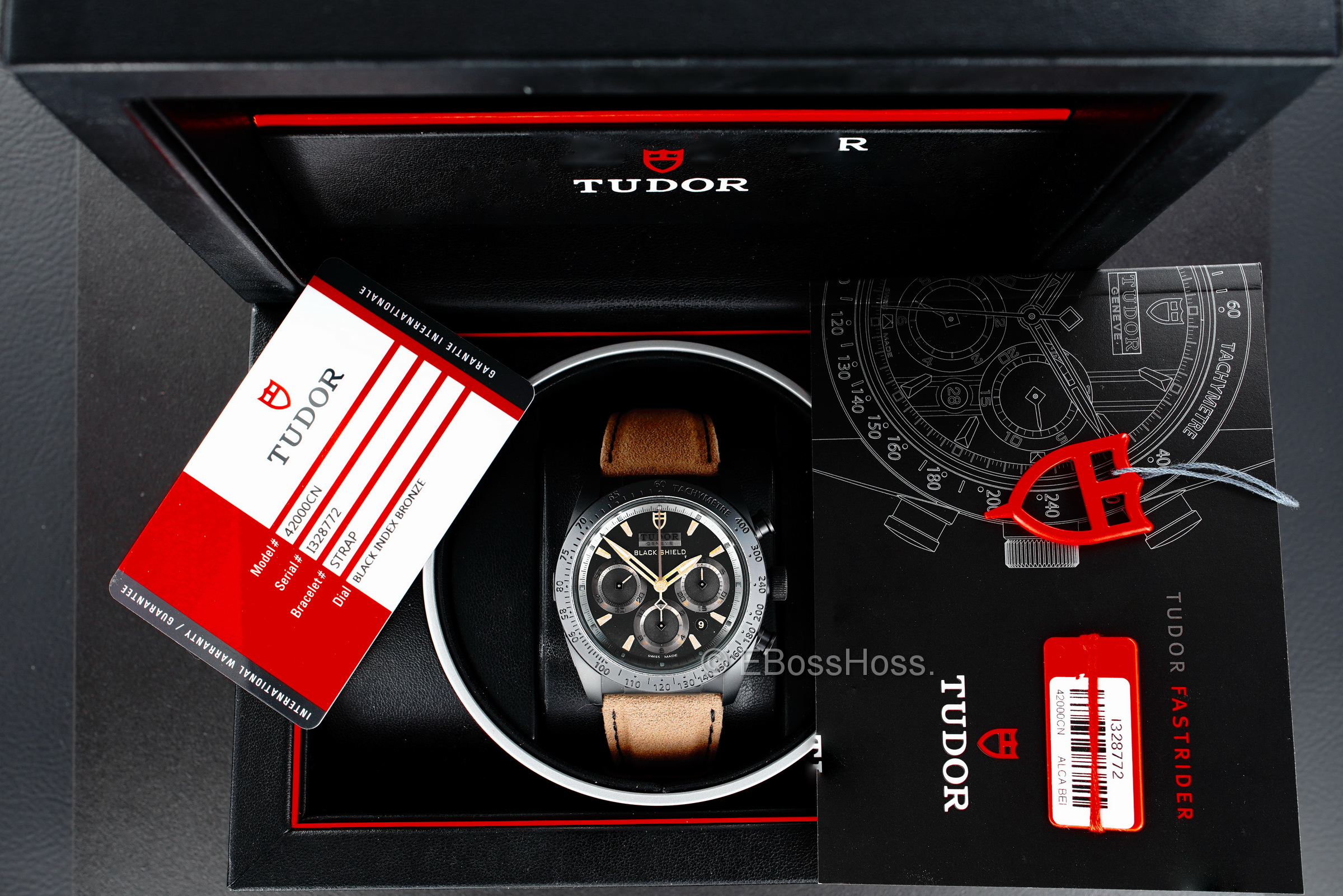 Tudor Black Shield Fastrider - Ref: 42000CN