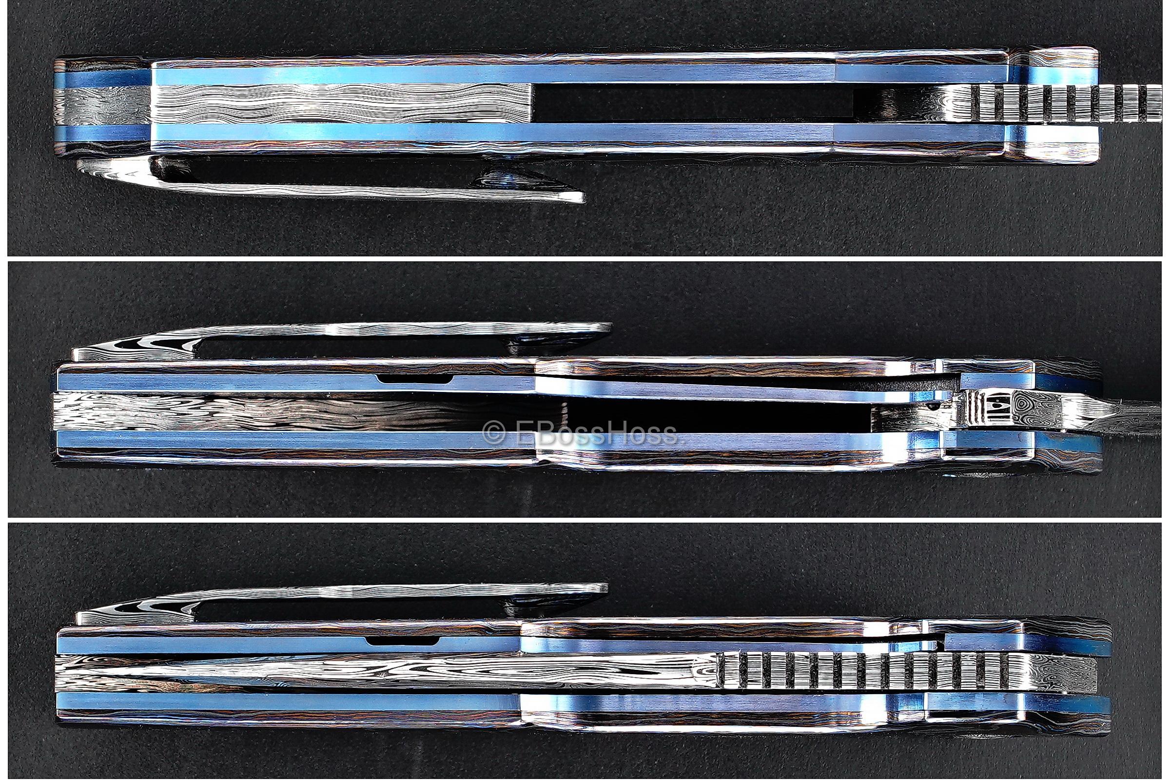 A2 Knives, Bharucha, Thorburn, van Heerden Custom A6 Very Premium Flipper