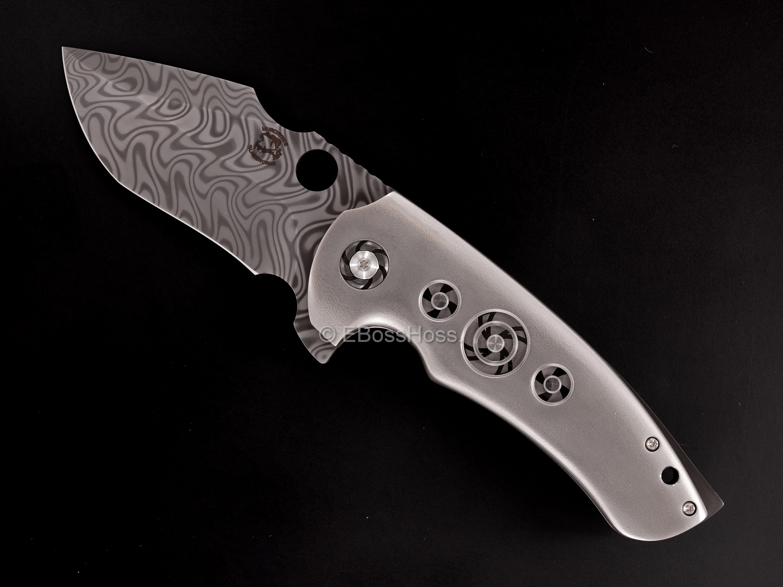 Michael Burch (Burchtree Bladeworks) Custom Deluxe Vented MS3 Flipper