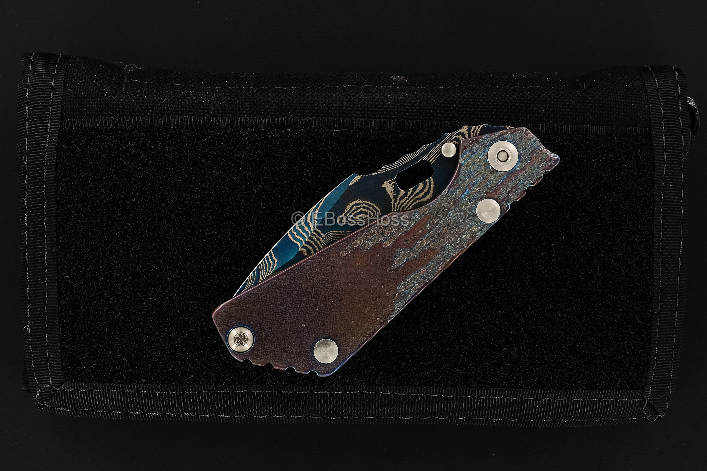 Mick Strider Custom (MSC) Nightmare Tanto Cobalt-Damascus PT