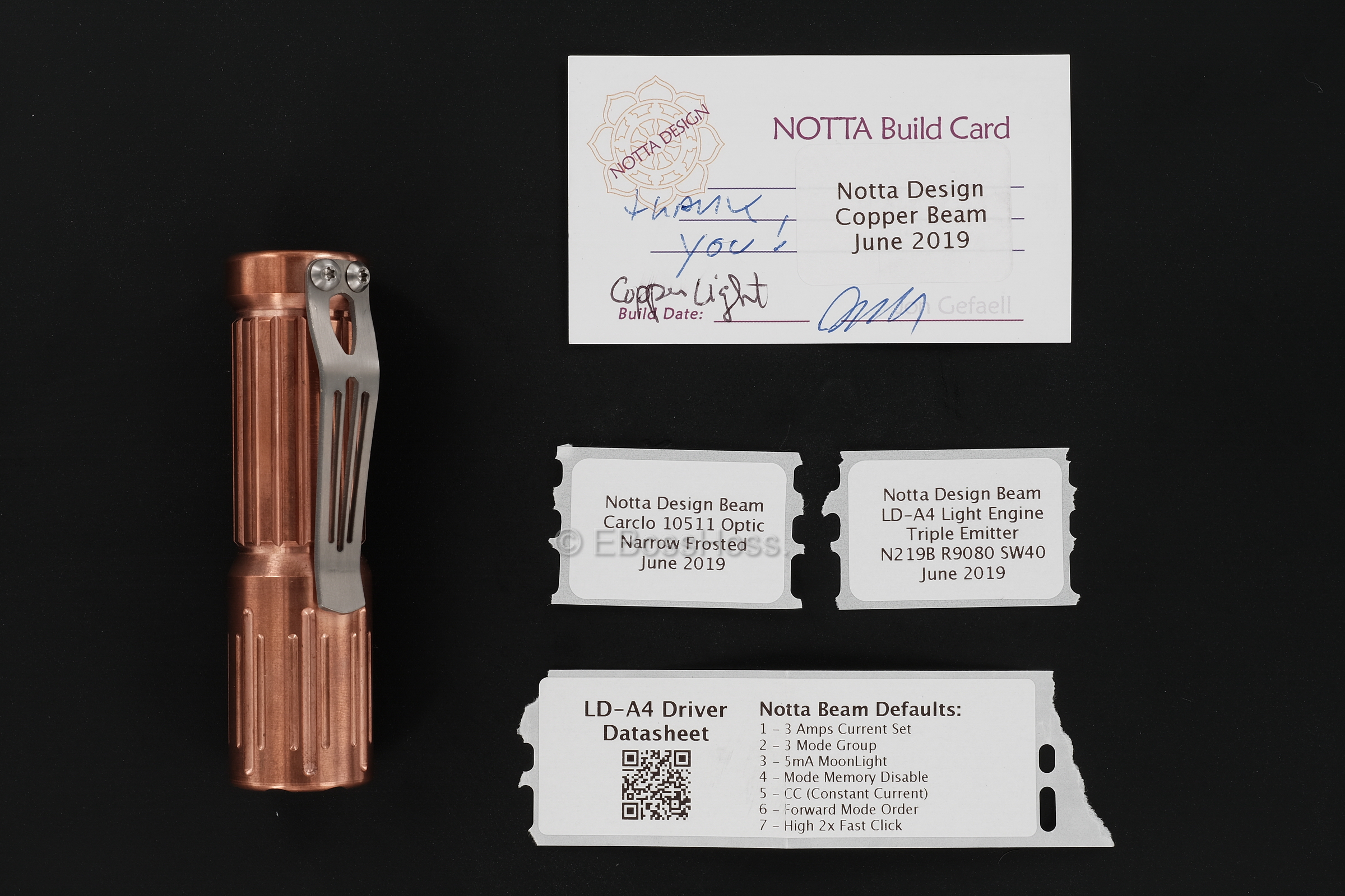 Notta Design by Jon Gefaell Copper Beam Flashlight
