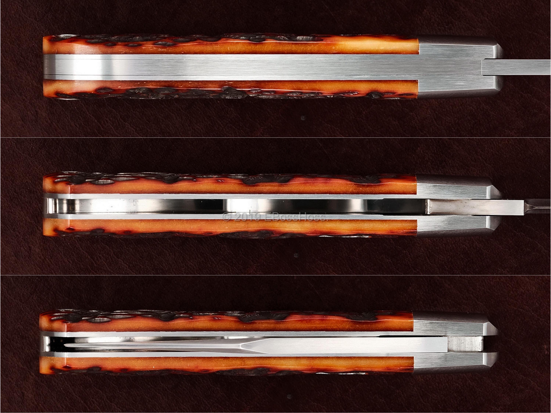 Bill Ruple Custom Jigged-Bone Lannys Clip
