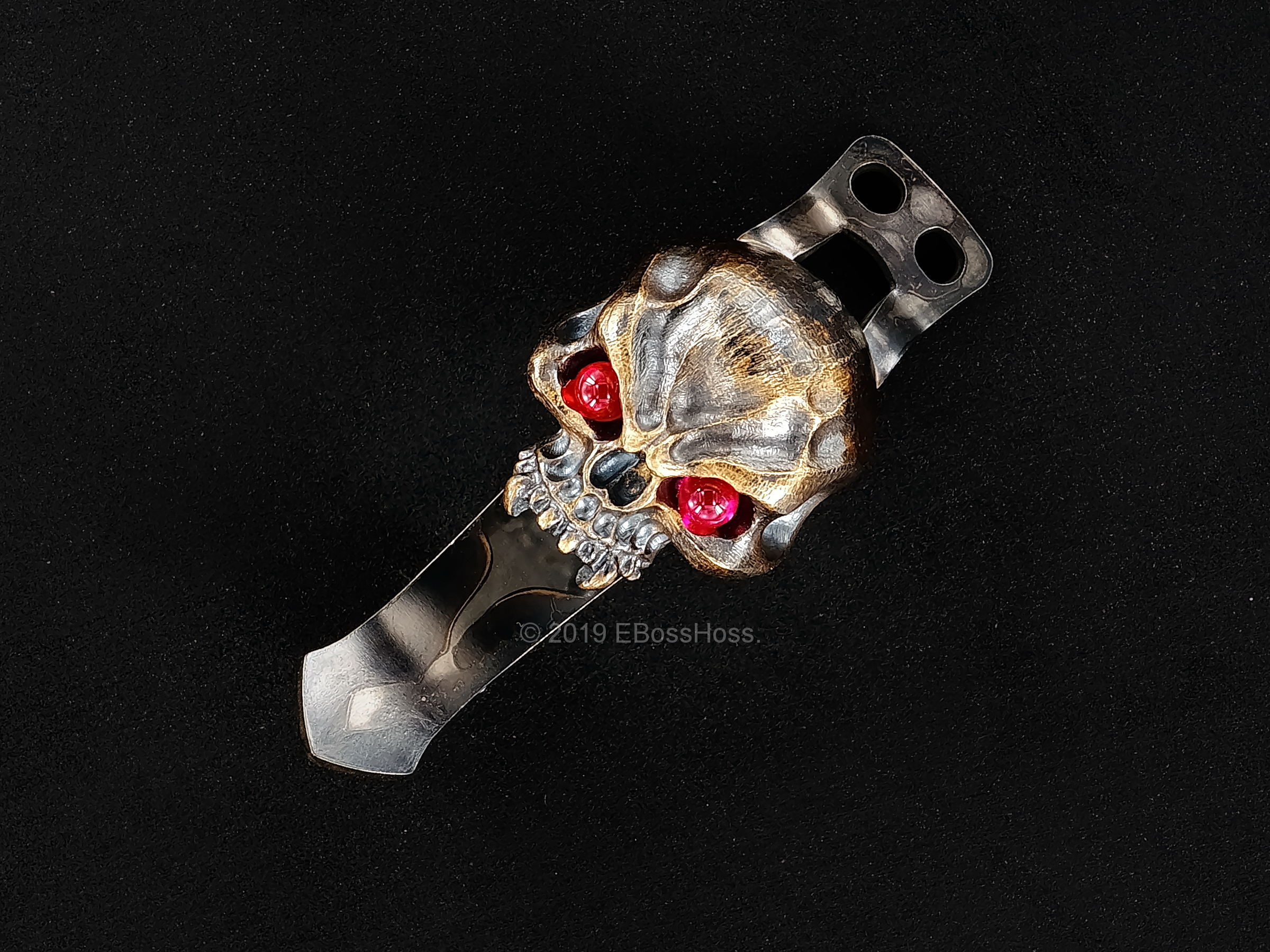 Derrick Obatake ''ONE'' Vigilant Large Hard Warrior Skull Torch Clip from Steel Flame
