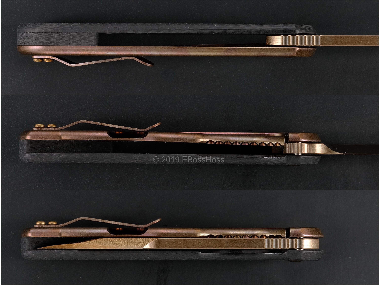 Jeremy Horton - Gerry McGinnis Custom Golden-Bowie-Tanto-Chisel Tac 45s Flipper Collaboration
