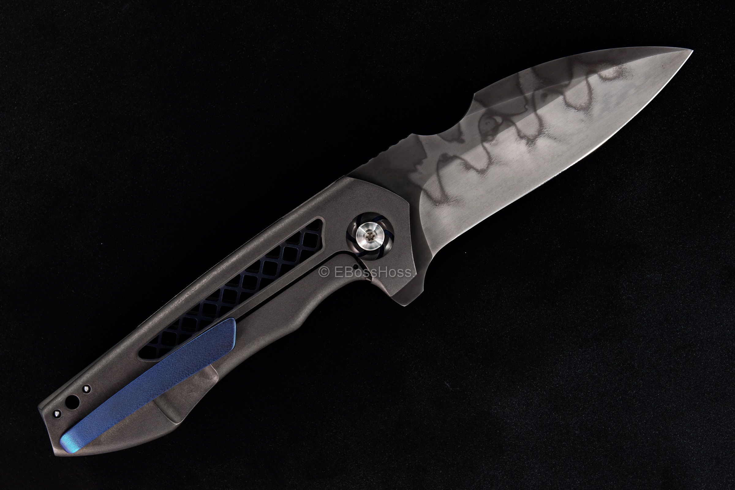 Michael Burch (Burchtree Bladeworks) Custom Vented DRO MDS Framelock Flipper