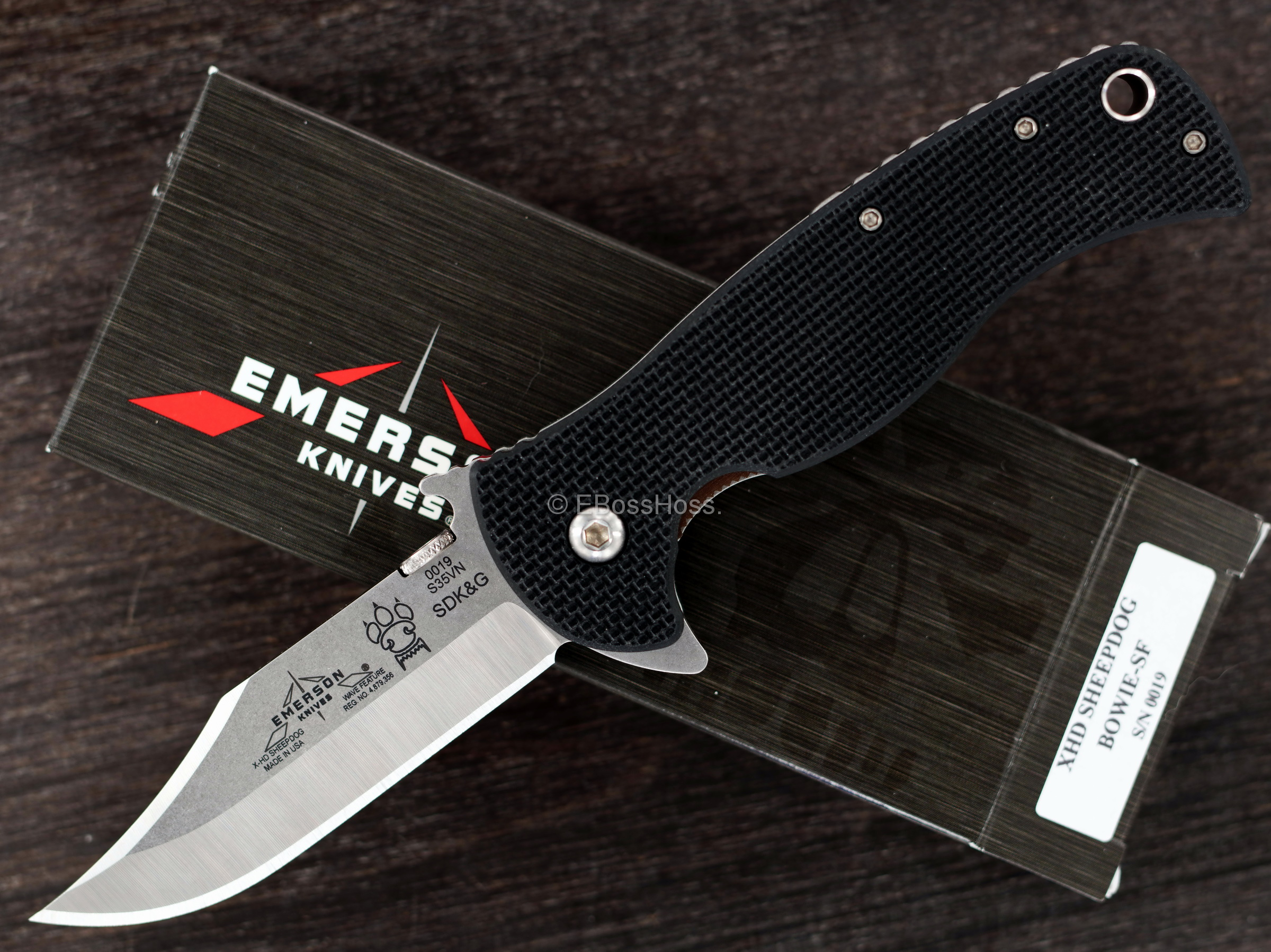 Emerson X-HD Sheepdog Waved Flipper - Bowie Edition