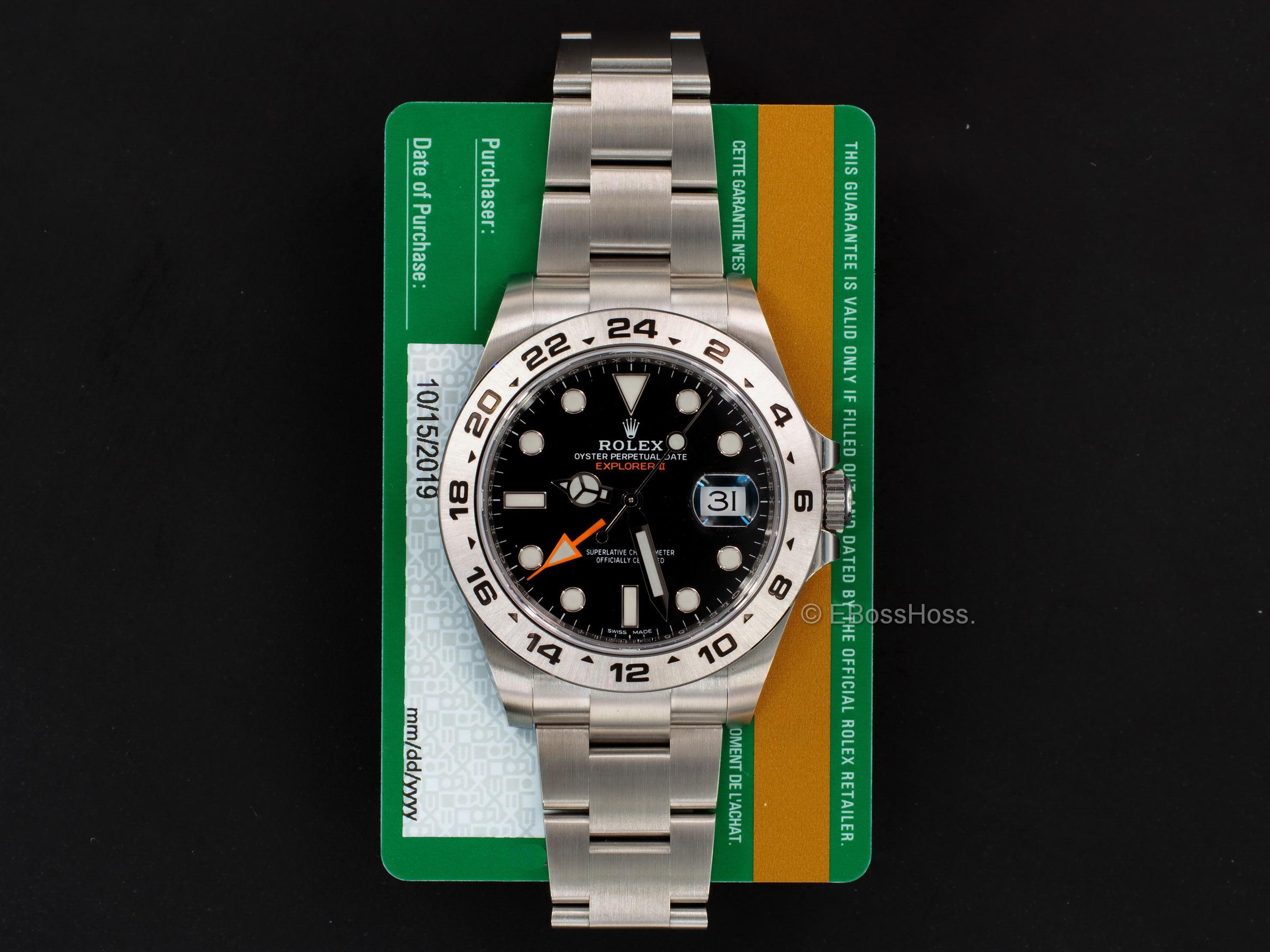 Rolex Explorer II  Black - Ref. 216570