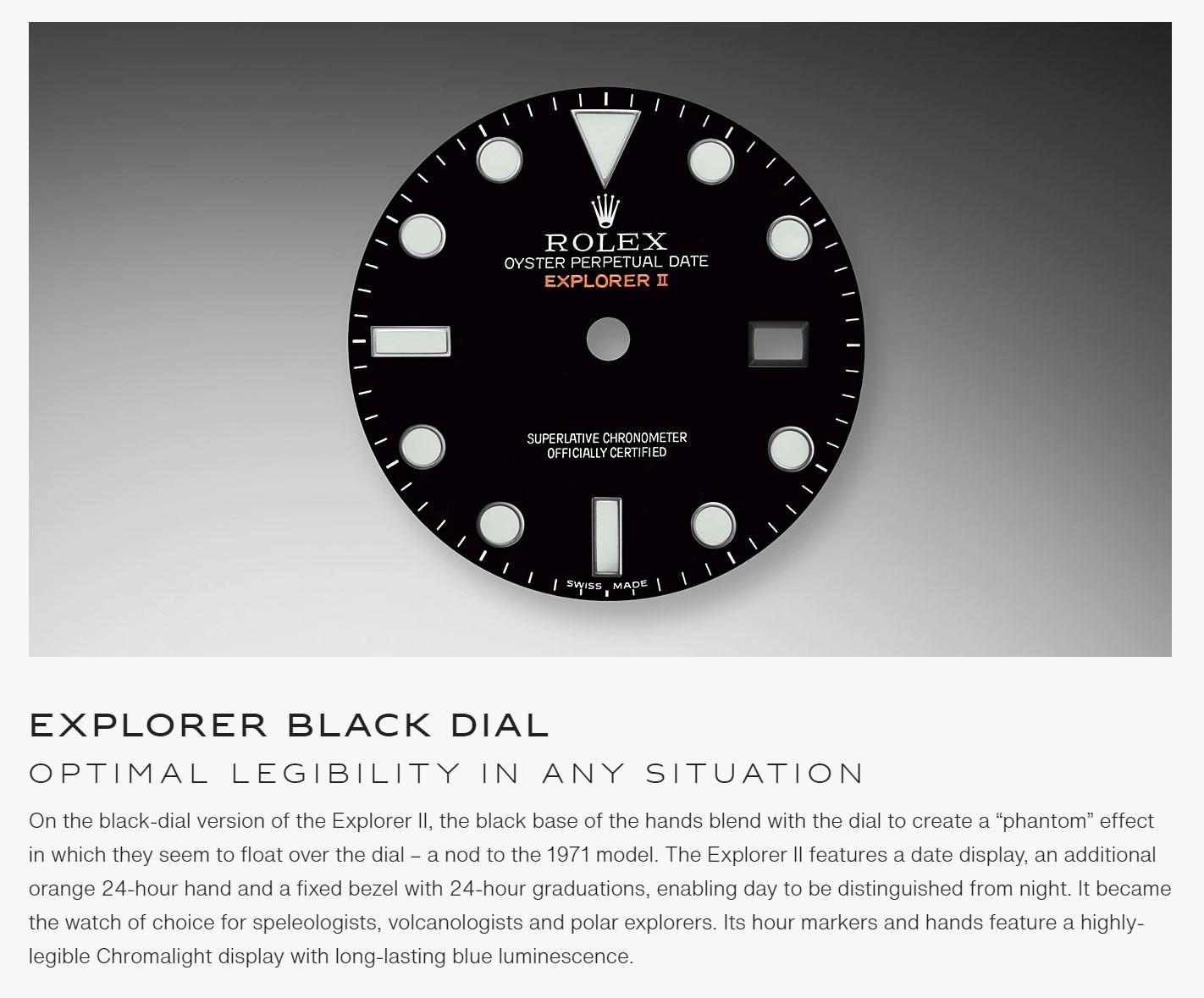 Rolex Explorer II  Black - 216570