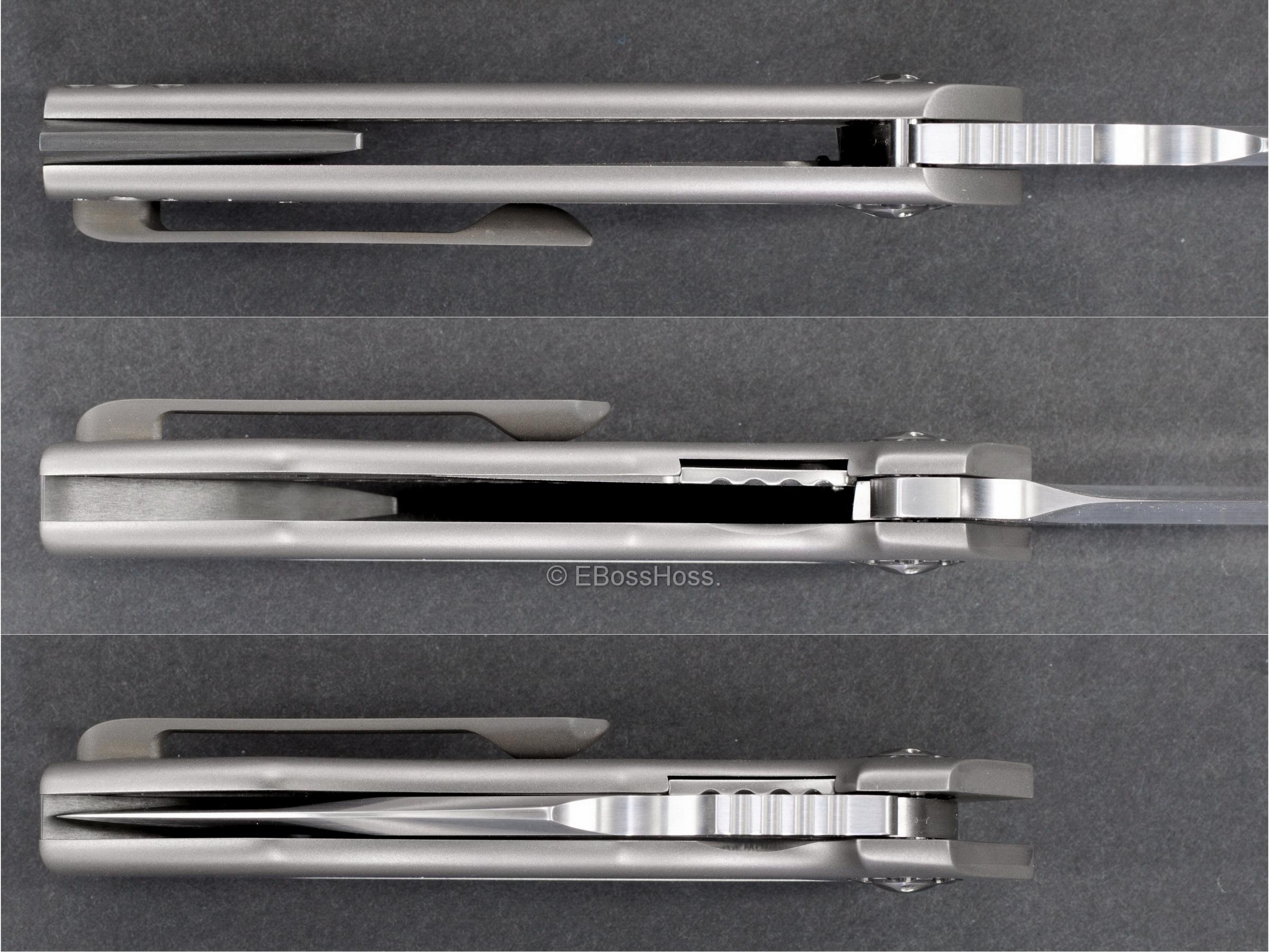 Michael Burch (Burchtree Bladeworks) Custom Vented Dromos Inset Lock Flipper