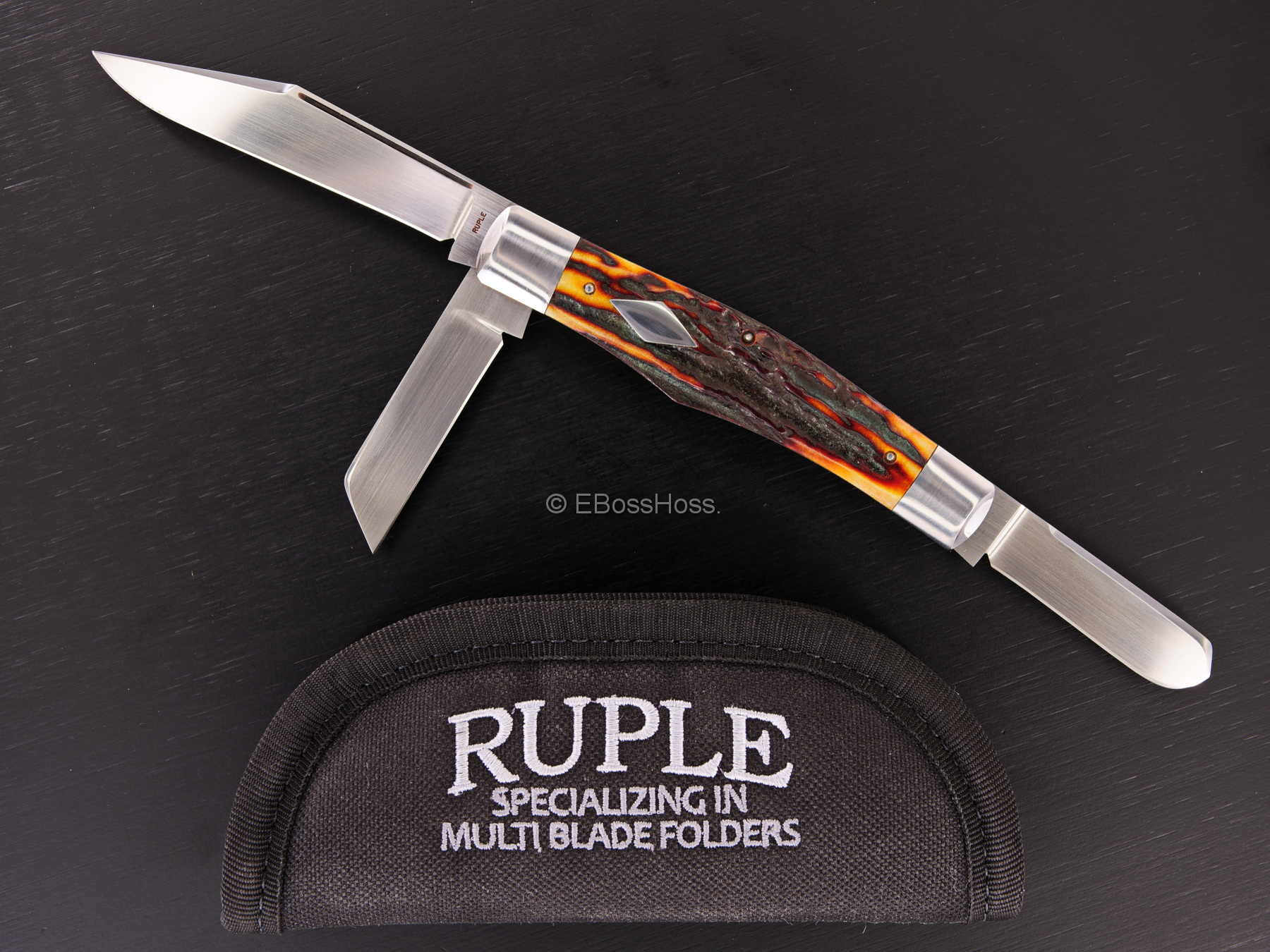 Bill Ruple Custom Large Premium Stag Stockman
