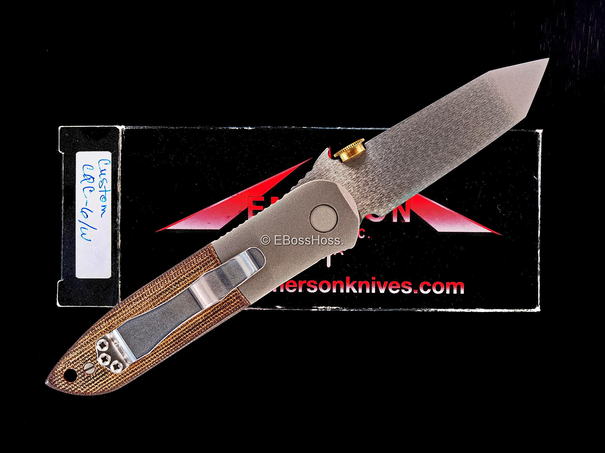 Ernie Emerson Custom CQC-6 Waved
