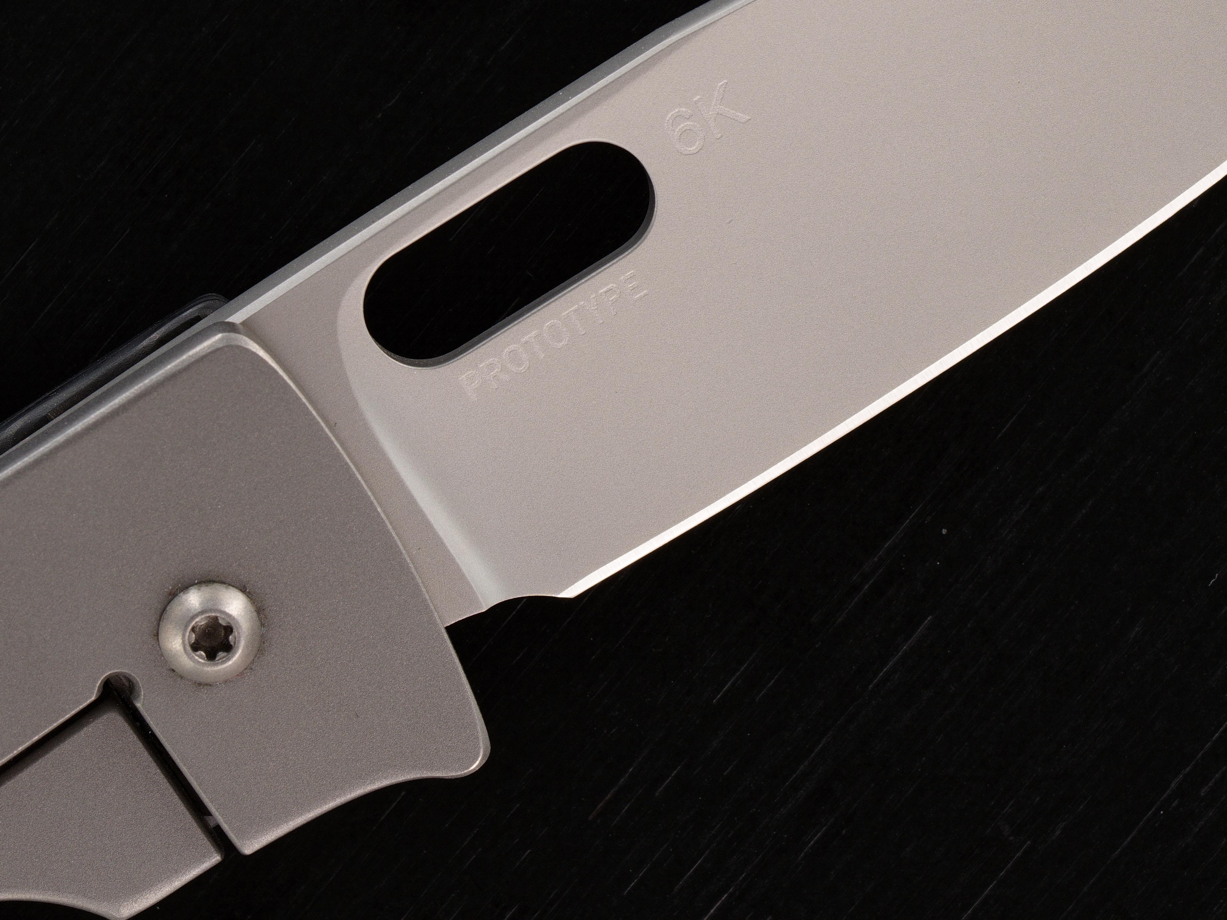 Tom Mayo Custom Medium Covert Framelock Folder PROTOTYPE