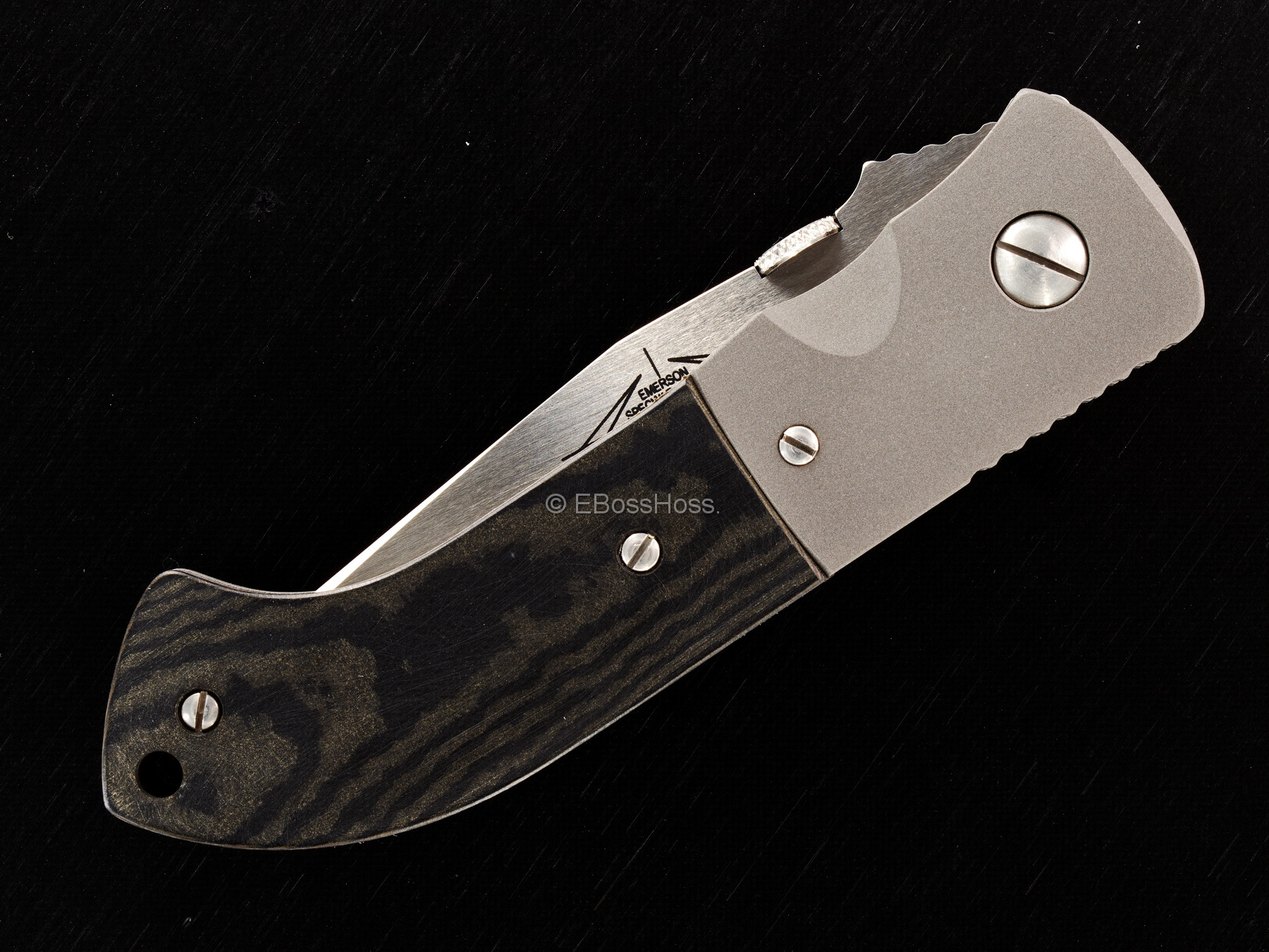 Ernie Emerson Custom MV-5 (aka Viper 5) in Black Richlite