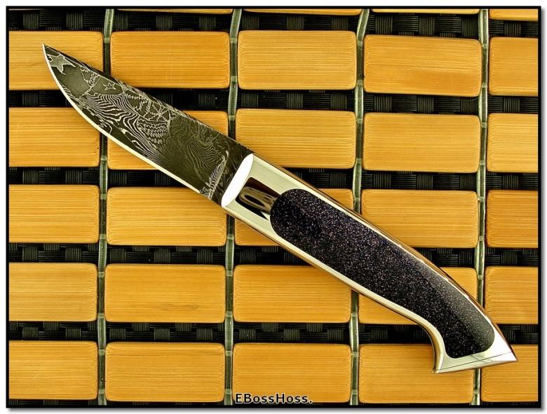Charles Bennica Comete Moonstone Custom Interframe Buttlock