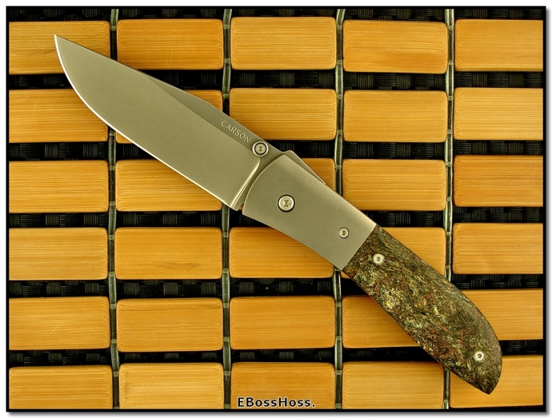 Kit Carson Rag Micarta Medium Model 4
