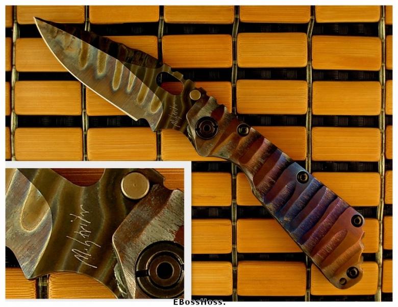 Mick Strider MSC All-Titanium SMF Dragon-spine Dagger Grind