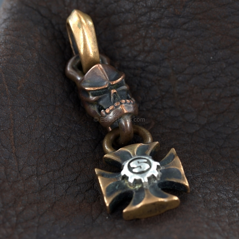 Starlingear Copper Kami and Maltese Cross w/SGear Logo Key Chain Pendant