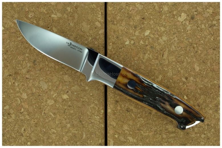 S.R. Johnson Semi-Integral Classic Stag Drop Point Hunter