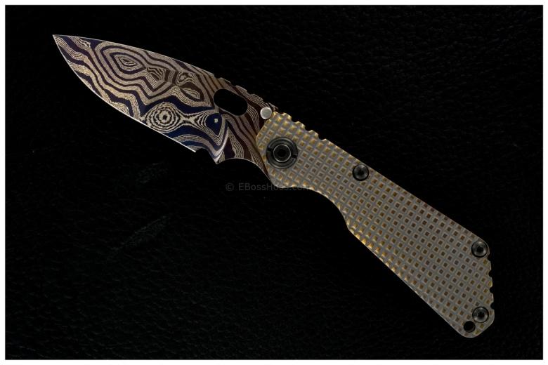 Mick Strider Custom (MSC) Nightmare Damascus FRAG SnG