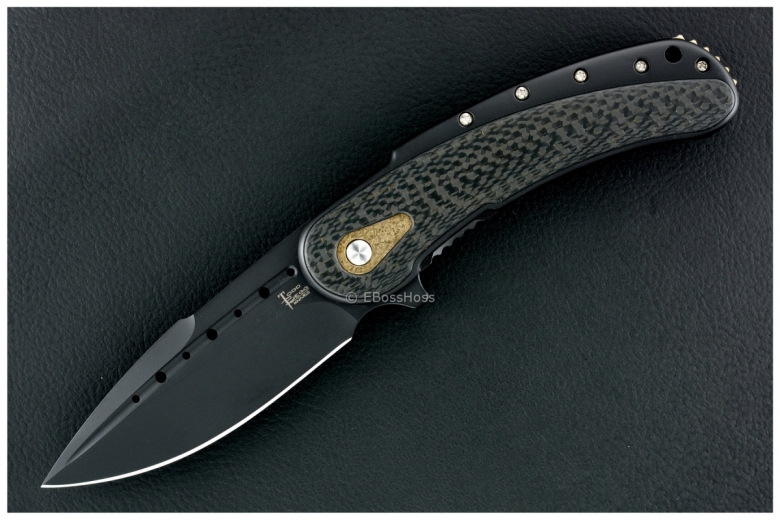 Todd Begg Knives Black-Gold Bodega Flipper
