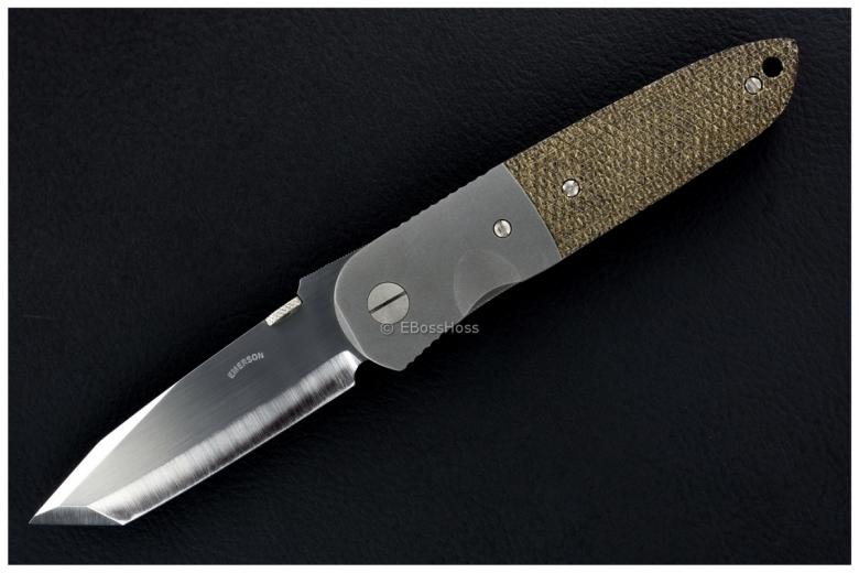 Ernie Emerson Halfmoon Hand-Checkered CQC-6 w/Titanium Backstrap