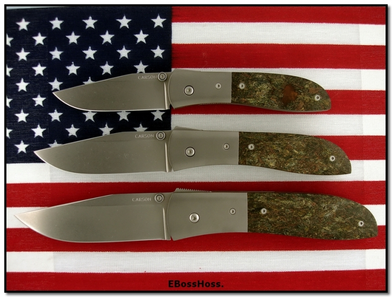 Kit Carson 3 Custom Rag Micarta Model 4s