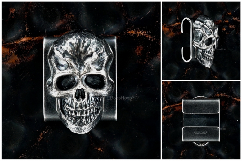 Steel Flame Sterling-Silver Darkness Molle Clip