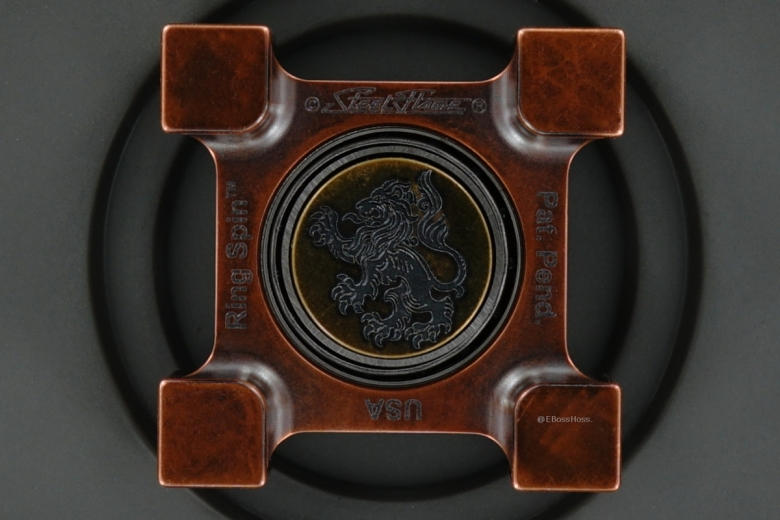 Steel Flame Telluriul Copper Ring Spin with Plug