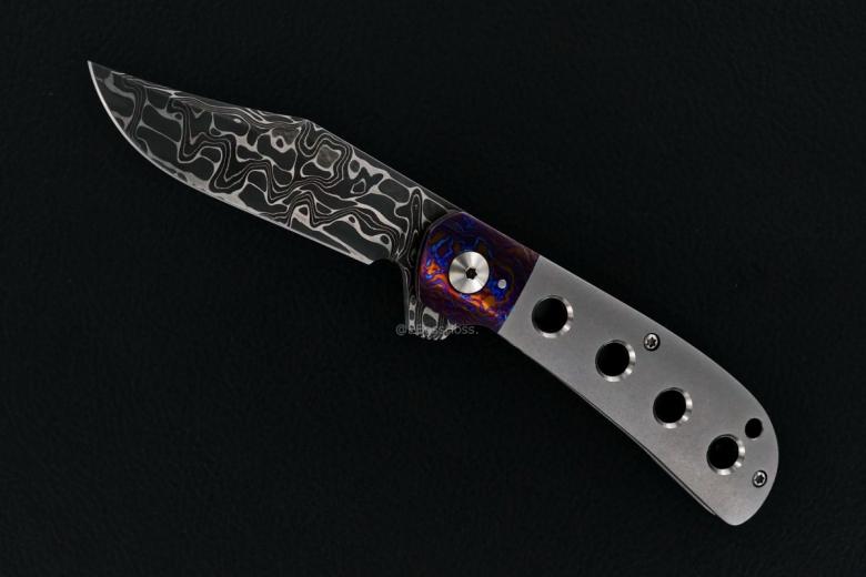 Enrique Peña Custom Very Deluxe Lannys Clip Bolsterlock Flipper