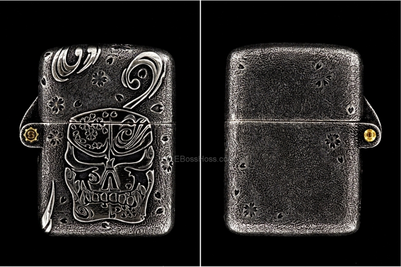 Starlingear Custom Cast Sterling Silver Sakura Zippo Lighter