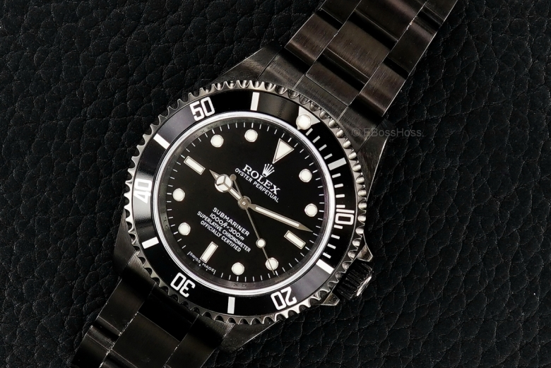 Rolex SS Black PVD No-Date Submariner - Ref 14060M