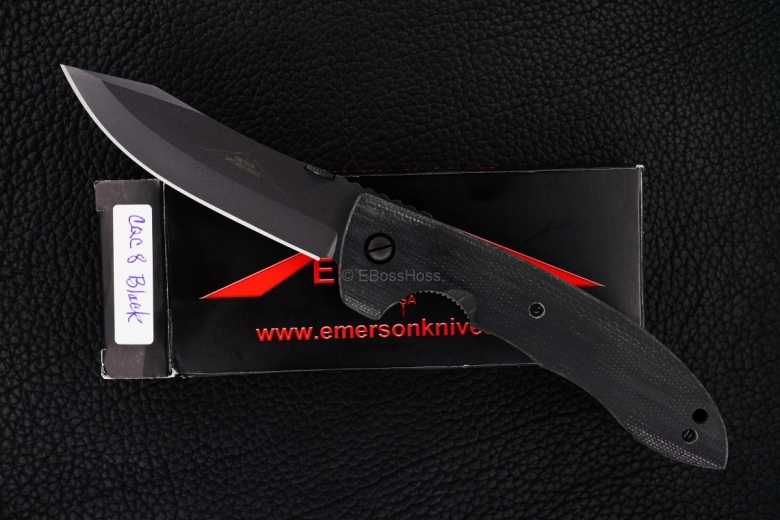 Ernie Emerson Contoured-handle Black CQC-8