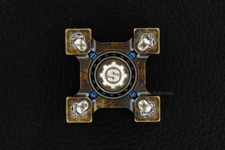 Steel Flame - Starlingear SLEDGE XL 3-D Slickster Skulls Ring Spin