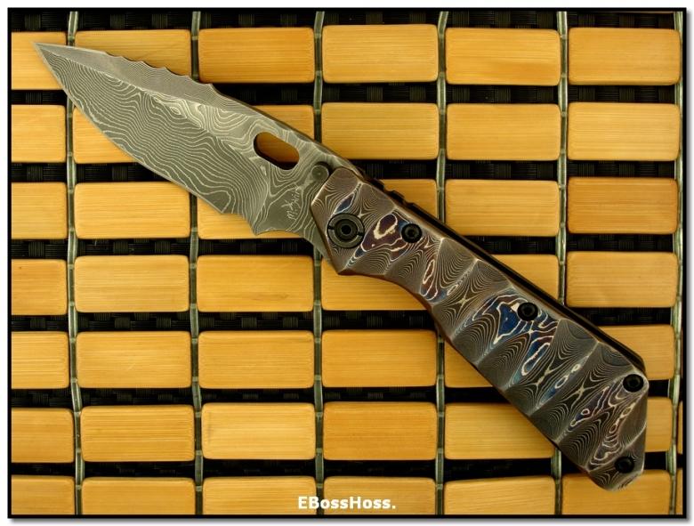 Mick Strider MSC Damascus XL SnG - Dragon-Spine Dagger Grind