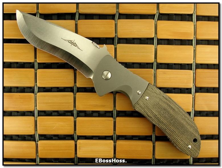 Ernie Emerson Super Commander (aka: ES1-M) - w/a Rare Chisel Ground Blade