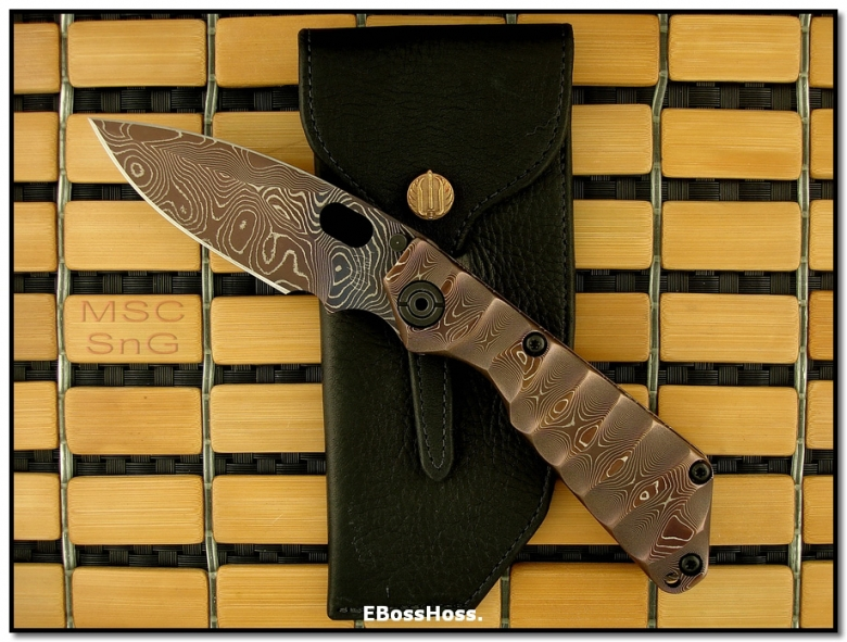 Mick Strider MSC All-Damascus SnG - Dagger Grind