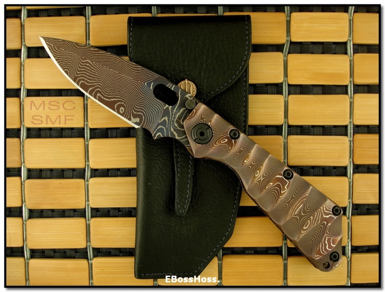 Mick Strider MSC All-Damascus SMF - Dagger Grind