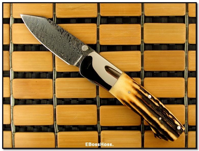Scott Sawby Dlx. CU - Stag / Stainless Damascus