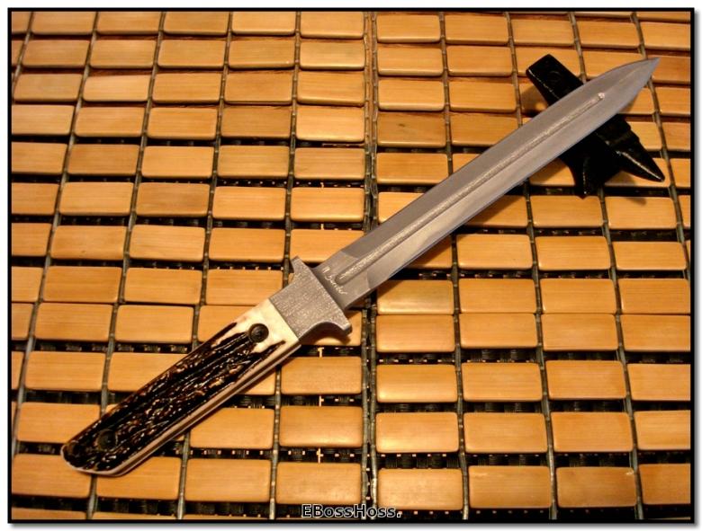Mick Strider Stag-Handled Integral Short-Sword Dagger