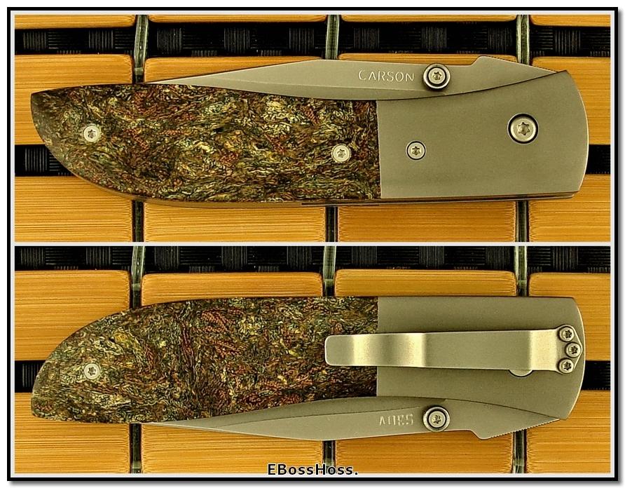 Kit Carson Rag Micarta Med. Model 4