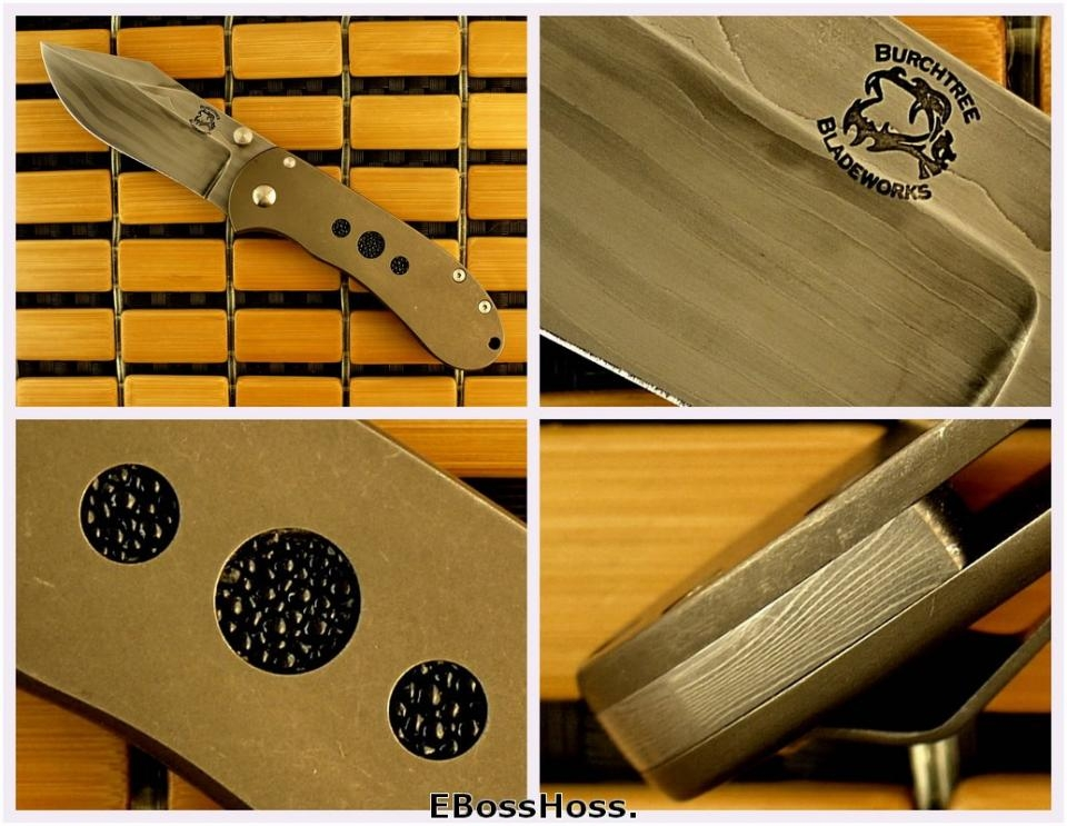 Michael Burch Forged Damascus Tangent