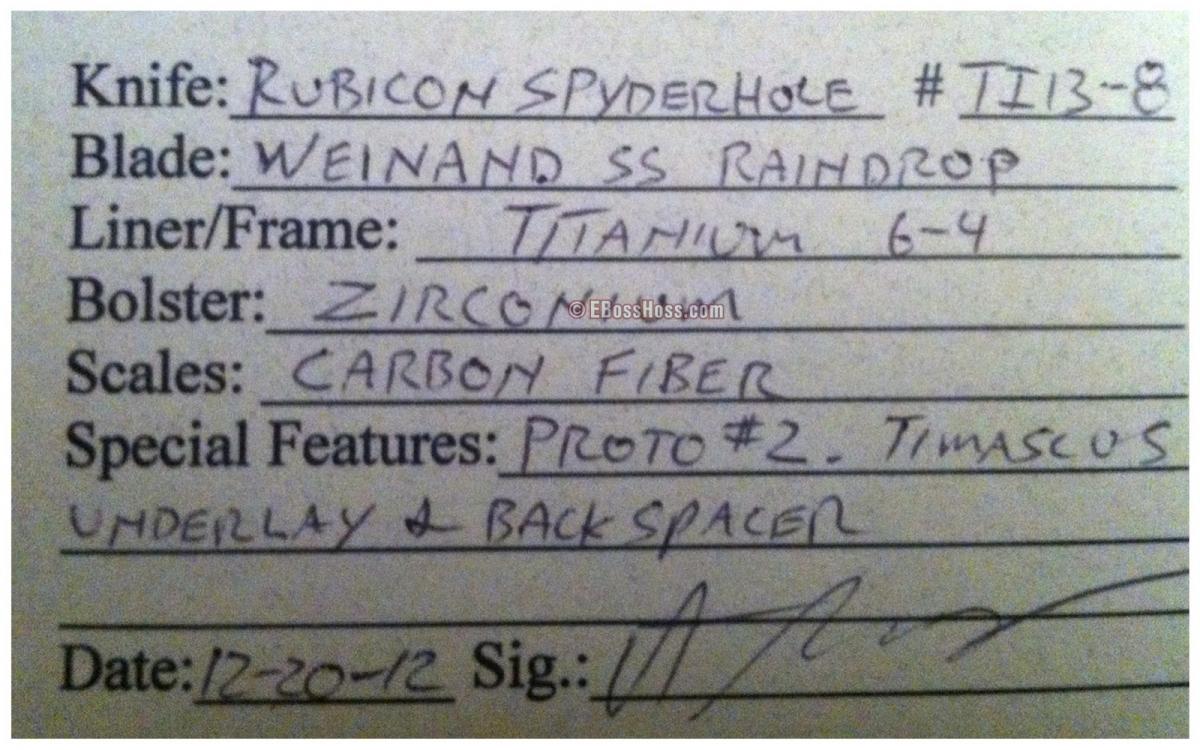 Peter Carey Deluxe Rubicon Spyderhole Prototype