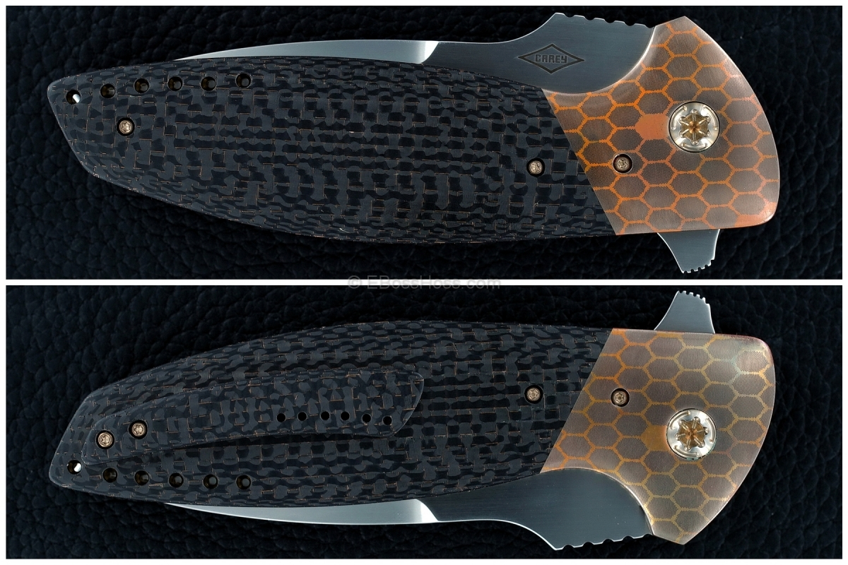 Peter Carey Custom Deluxe Cayman XL Tanto Flipper
